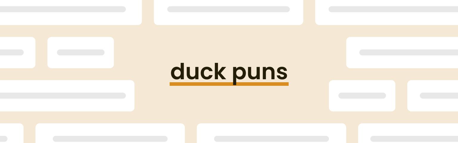 duck puns