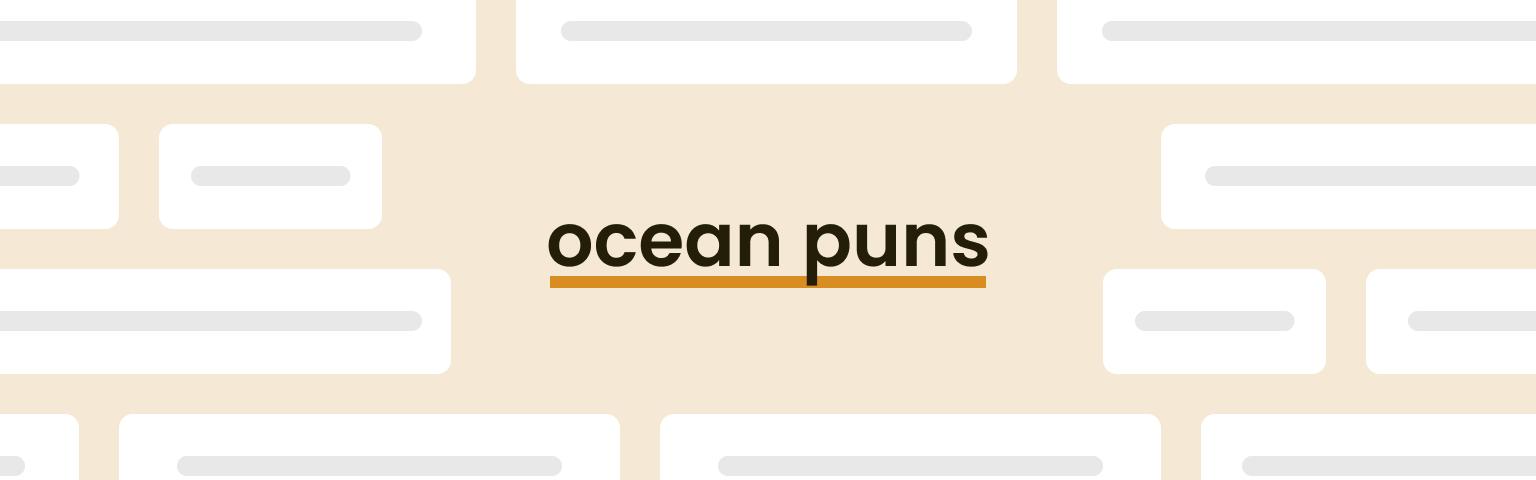 ocean puns