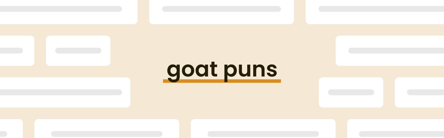 goat puns