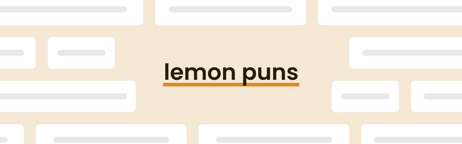 lemon puns