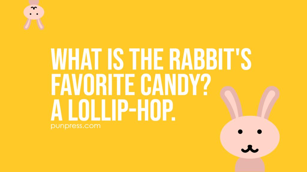 what is the rabbit's favorite candy? A lollip-hop - rabbit puns