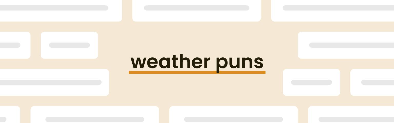weather puns