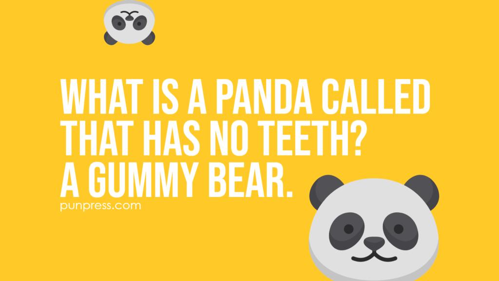 what is a panda called that has no teeth? a gummy bear - panda puns